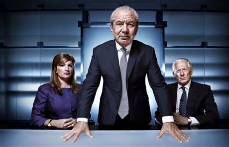 Karren Brady, Lord Sugar and Nick Hewer - The Apprentice