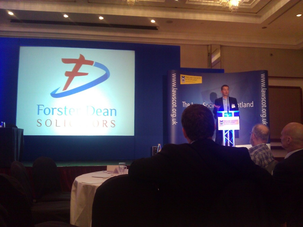 Forster Dean logo explained at Law in Scotland 2013