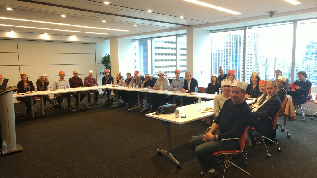Inksters Christmas Hats - Toronto Legal Innovation Round Table - October 2017
