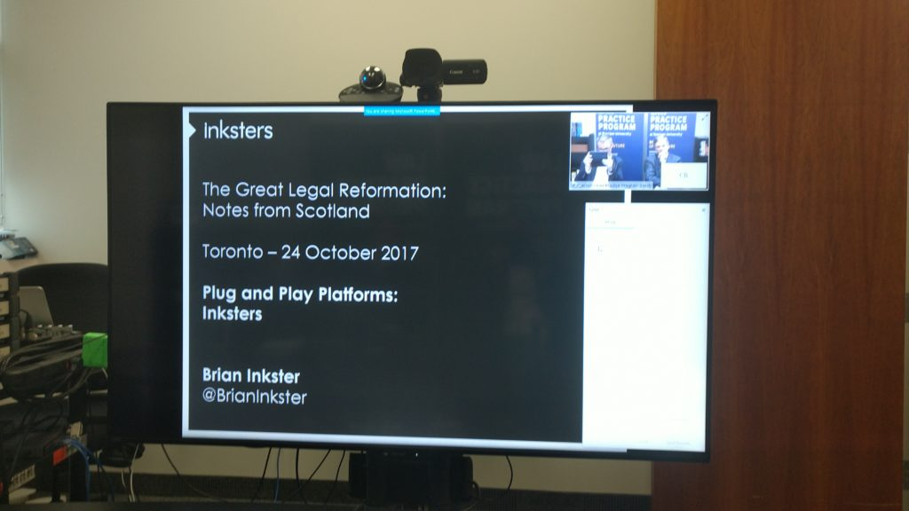 Ryerson University - Law Practice Programme - Toronto - Canada - Webcast by Brian Inkster
